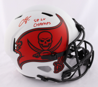 """Chris Godwin Signed Buccaneers Full-Size Lunar Eclipse Alternate Speed Helmet Inscribed """"SB LV Champs"""" (Beckett COA) at PristineAuction.com"""