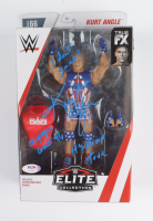 """Kurt Angle Signed WWE Action Figure Inscribed """"I Don't Suck!"""", """"Olympic Gold '96"""" & """"It's Damn True"""" (PSA COA) at PristineAuction.com"""