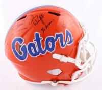 "Tim Tebow, Steve Spurrier, & Danny Wuerffel Signed Florida Gators Full-Size Speed Helmet Inscribed ""07 Heisman"", ""96 Heisman"" & ""66 Heisman"" (Beckett COA) at PristineAuction.com"