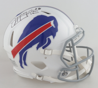 "Jim Kelly Signed Bills Full-Size Authentic On-Field Speed Helmet Inscribed ""Last To Wear 12"" (JSA COA) at PristineAuction.com"