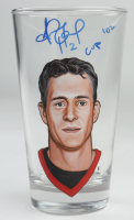 """Jiri Fischer Signed Custom Painted Glass Cup Inscribed """"Cup 102"""" (PSA COA) at PristineAuction.com"""