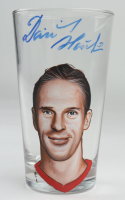Dominik Hasek Signed Custom Painted Glass Cup (PSA COA) at PristineAuction.com