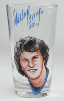 """Mike Bossy Signed Custom Painted Glass Cup Inscribed """"HOF 91"""" (PSA COA) at PristineAuction.com"""
