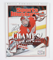 Dominik Hasek Signed 2002 Sports Illustrated Magazine (PSA COA) at PristineAuction.com