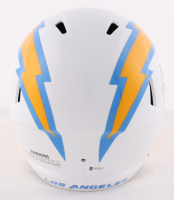 Justin Herbert Signed Chargers Full-Size Replica Speed Helmet (Beckett COA) at PristineAuction.com