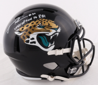 """James Robinson Signed Jaguars Full-Size Speed Helmet Inscribed """"undrafted to RBI"""" (Beckett COA) (See Description) at PristineAuction.com"""