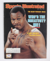 Larry Holmes Signed 1985 Sports Illustrated Magazine (PSA COA) (See Description) at PristineAuction.com