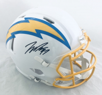 Joey Bosa Signed Chargers Full-Size Authentic On-Field Speed Helmet (Beckett Hologram) at PristineAuction.com