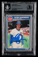 Ryne Sandberg Signed 1985 Fleer #65 (BGS Encapsulated) at PristineAuction.com