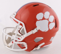 Travis Etienne Signed Clemson Tigers Full-Size Speed Helmet (Beckett COA) at PristineAuction.com