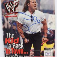 Shawn Michaels Signed 1998 WWF Magazine (PSA COA) at PristineAuction.com