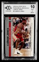 LeBron James 2003-04 Upper Deck Phenomenal Beginning LeBron James #8 (BCCG 10) at PristineAuction.com
