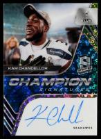 Kam Chancellor 2020 Panini Spectra Champion Signatures Neon Blue #11 #15/25 at PristineAuction.com