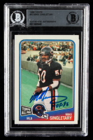 "Mike Singletary 1988 Topps #82 Inscribed ""HOF 98"" (BGS Encapsulated) at PristineAuction.com"