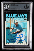 Cecil Fielder Signed 1986 Topps #386 RC (BGS Encapsulated) at PristineAuction.com