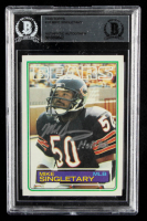 """Mike Singletary Signed 1983 Topps #38 RC Inscribed """"HOF 98"""" (BGS Encapsulated) at PristineAuction.com"""
