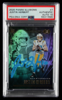 Justin Herbert Signed 2020 Panini Illusions #7 RC (PSA Encapsulated) at PristineAuction.com