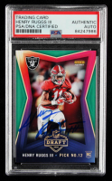 Henry Ruggs III Signed 2020 Panini Instant Draft Night Football #17 RC (PSA Encapsulated) at PristineAuction.com