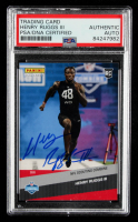 Henry Ruggs III Signed 2020 Panini Instant Football #7 RC (PSA Encapsulated) at PristineAuction.com