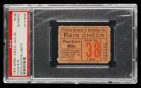 1925 Hilldale vs. Brooklyn Negro League Baseball Ticket Stub (PSA Encapsulated) at PristineAuction.com