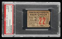 1923 Hilldale vs. Washington Negro League Baseball Ticket Stub (PSA Encapsulated) at PristineAuction.com