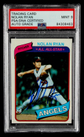 Nolan Ryan Signed 1980 Topps #580 (PSA Encapsulated) at PristineAuction.com