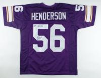 "E. J. Henderson Signed Jersey Inscribed ""Viking For Life"" (JSA COA) (See Description) at PristineAuction.com"