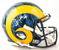 Marshall Faulk Signed Rams Full-Size Hydro-Dipped Speed Helmet (Radtke COA) (See Description) at PristineAuction.com