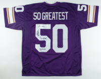 """""""50 Greatest"""" Jersey Signed by (4) with Jeff Siemon, Ed White, Tim Irwin & Scott Studwell (JSA Hologram) (See Description) at PristineAuction.com"""