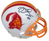 Mike Alstott Signed Buccaneers Mini Helmet (Beckett Hologram) at PristineAuction.com
