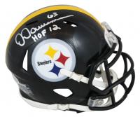 "Dermontti Dawson Signed Steelers Speed Mini Helmet Inscribed ""HOF 12"" (Beckett Hologram) at PristineAuction.com"