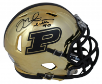 Mike Alstott Signed Purdue Boilermakers Chrome Speed Mini Helmet (Beckett Hologram) at PristineAuction.com
