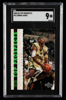 LeBron James 2003-04 UD Top Prospects #3 (SGC 9) at PristineAuction.com