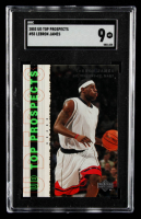 LeBron James 2003-04 UD Top Prospects #55 (SGC 9) at PristineAuction.com