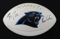 """Christian McCaffery Signed Panthers Logo Football Inscribed """"Run CmC"""" (Beckett COA) (See Description) at PristineAuction.com"""