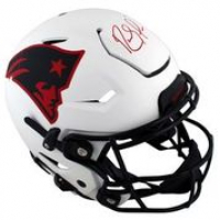 Randy Moss Signed Patriots Full-Size Authentic On-Field Lunar Eclipse Alternate SpeedFlex Helmet (Beckett Hologram) at PristineAuction.com