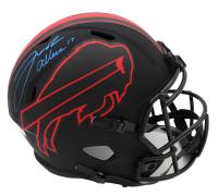 Josh Allen Signed Bills Full-Size Eclipse Alternate Speed Helmet (Radtke COA) at PristineAuction.com