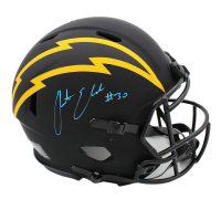 Austin Ekeler Signed Chargers Full-Size Authentic On-Field Eclipse Alternate Speed Helmet (Radtke COA) at PristineAuction.com