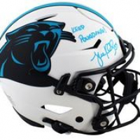 """Luke Kuechly Signed Panthers Full-Size Authentic On-Field Lunar Eclipse Alternate SpeedFlex Helmet Inscribed """"Keep Pounding!"""" (Beckett Hologram) at PristineAuction.com"""