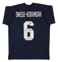 "Jeremiah Owusu-Koramoah Signed Jersey Inscribed ""Go Irish!"" (Beckett Hologram & Prova Hologram) at PristineAuction.com"