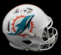 Mike Gesicki Signed Dolphins Full-Size Authentic On-Field Speed Helmet (Radtke COA) at PristineAuction.com
