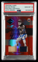 Nolan Ryan Signed 2005 Leaf Limited TNT #163 LGD Bat - Jersey #32/50 (PSA Encapsulated) at PristineAuction.com