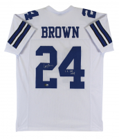 """Larry Brown Signed Jersey Inscribed """"SB XXX MVP"""" (Beckett Hologram) at PristineAuction.com"""