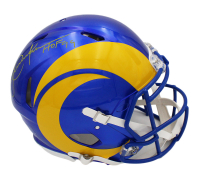 """Eric Dickerson Signed Rams Full-Size Authentic On-Field Speed Helmet Inscribed """"HOF 99"""" (Radtke COA) at PristineAuction.com"""