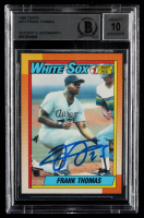 Frank Thomas Signed 1990 Topps #414B RC (BGS Encapsulated) at PristineAuction.com