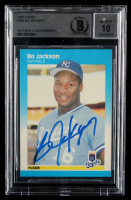 Bo Jackson Signed 1987 Fleer #369 RC (BGS Encapsulated) at PristineAuction.com