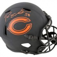 Roquan Smith Signed Bears Full-Size Eclipse Alternate Speed Helmet (Beckett Hologram) at PristineAuction.com