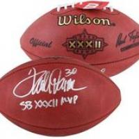 "Terrell Davis Signed Official Super Bowl XXXII Football Inscribed ""SB XXXII MVP"" (Beckett Hologram) at PristineAuction.com"
