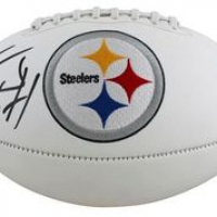 T.J. Watt Signed Steelers Logo Football (Beckett COA) at PristineAuction.com