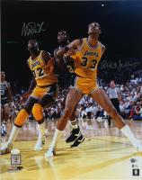 Magic Johnson & Kareem Abdul-Jabbar Signed Lakers 16x20 Photo (Beckett COA & JSA Hologram) at PristineAuction.com
